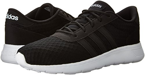 adidas Women's Lite Racer W Sneaker, Black/White, 8.5 M US by adidas (Image #6)