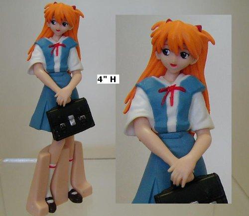 Evangelion Figure EVA Mini Trading Asuka School Uniform Variant