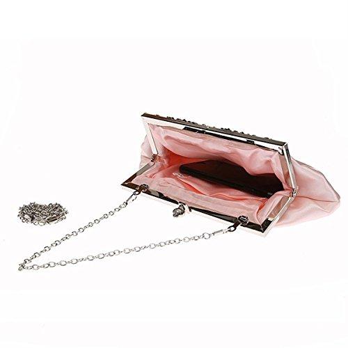 fête Dame violet pochette satin à la sac simple de main en Champagne Flada mariage pour femme sac sac 4qwwg8