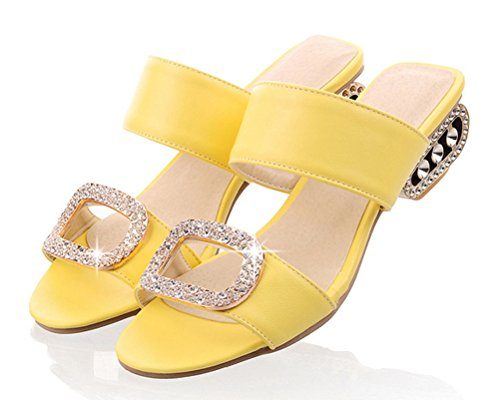 HiTime Femme HiTime Mules Jaune Mules CqUwHPa0x