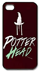 Nice Potter TPU Material Cool Black Case For Iphone 4s by Topmousepad