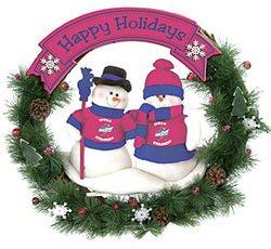 (Caseys 194604129 Iowa State Cyclones 20 in. Team Snowman Wreath )