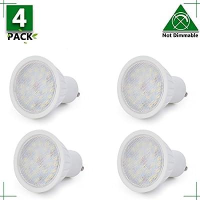 Gu10 Led Bulb 25W Equivalent Halogen GU10 Led Flood Light 120V Daylight White 5000K 120 Degree Beam Angle Recessed Light Track Light 300Lm Non-Dimmable 2 YEARS WARRANTY (Pack Of 12)