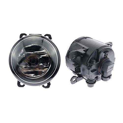 Dunhil 2 pcs Driver Passenger Sides Fog Light Lamps with H11 Halogen Bulbs For Acura Ford Honda Jaguar Lincoln Subaru Suzuki