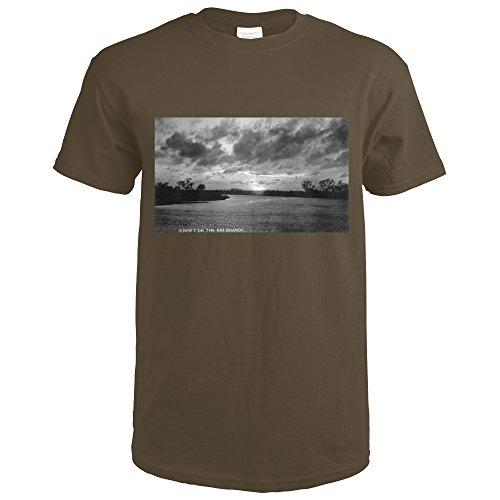 Texas - Sunset On The Rio Grande Photograph (Dark Chocolate T-Shirt XX-Large) - Set Rio Grande