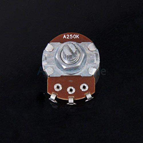 250K-ohm Control Pot Guitar Potentiometer Split Shaft Guitar Volume Control (250k Control)