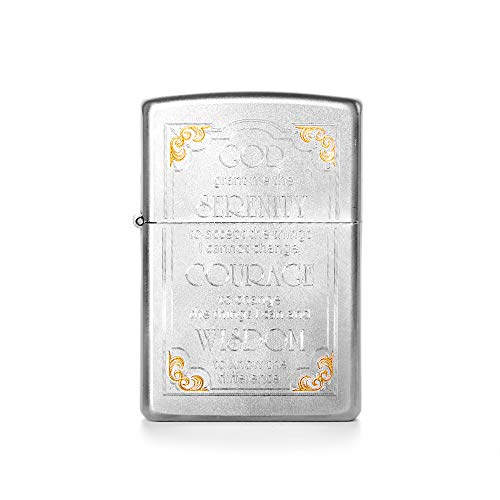 - Eve's Addiction Engravable Serenity Prayer Zippo Lighter