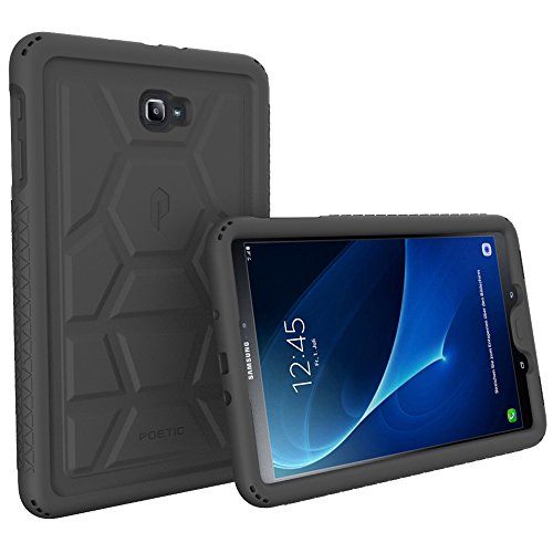Tab A 10.1 Case, Poetic TurtleSkin Heavy Duty Protection Silicone Case with Sound-Amplification feature for Samsung Galaxy Tab A 10.1 (2016)
