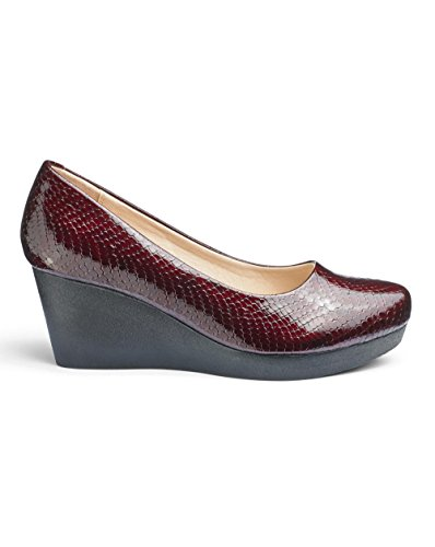 Heavenly Soles Wedge Shoes Bordo Crocodile DAgHCIW