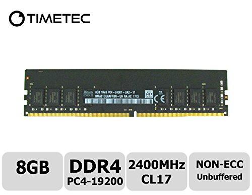 Timetec Hynix 8GB DDR4 2400MHz PC4-19200 Unbuffered Non-ECC 1.2V CL17 1Rx8 Single Rank 288 Pin UDIMM Desktop Memory RAM Module Upgrade (Single Rank 8GB) (Pst Series 3)