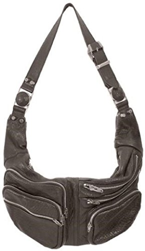 Lamb Leather Hobo Handbag (Lush Leather Washed Lambskin Zippered Camera Shoulder Dark Taupe Shoulder Hobo Bag)
