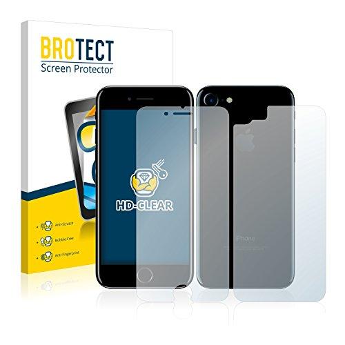 2x BROTECT Pellicola Protettiva Apple iPhone 7 (Anteriore + Posteriore) Schermo Protezione – Trasparente, Anti-Impronte