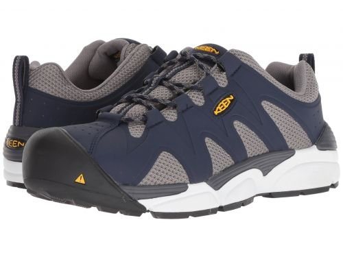 Keen Utility(キーン) メンズ 男性用 シューズ 靴 ブーツ 安全靴 ワーカーブーツ San Antonio Aluminum Toe Navy Peacoat/Grey Flanel [並行輸入品] B07F9XQ42Y 10.5 D Medium
