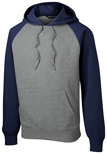 Vintage True Navy Heather (Sport Tek Men's Soft Pullover Hooded Sweatshirt - True Navy/ Vintage Heather ST267 4XL)