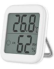 """VICKSONGS Hygrometer Binnen/Buiten 2.1""""Display [Magnetische en Beugel Installatie] Digitale Thermo-Hygrometer Geschikt voor Babykamer, Woonkamer, Kantoor"""