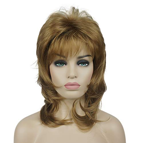 Lydell Long Soft Shaggy Layered Blonde Ombre Classic Cap Full Synthetic Wigs #19 Light Strawberry - Long Strawberry