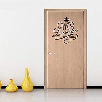 HNXDP Crown WC Lounge WC Etiqueta de la puerta Vinilo Etiqueta de ...