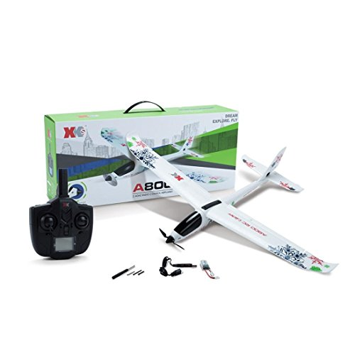 Highpot WL XK-A800 EPO Fixed Wing 5CH Glider Wingspan 780mm Remote Control Airplane Flying Toy Drone (White) ()