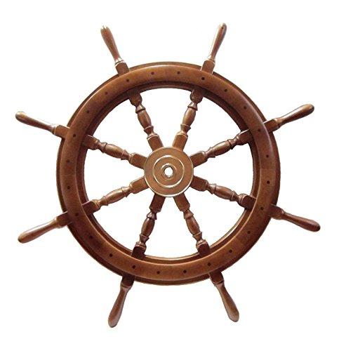 舵輪 900mm ラット 装飾品 舵 B00SKSB2VK