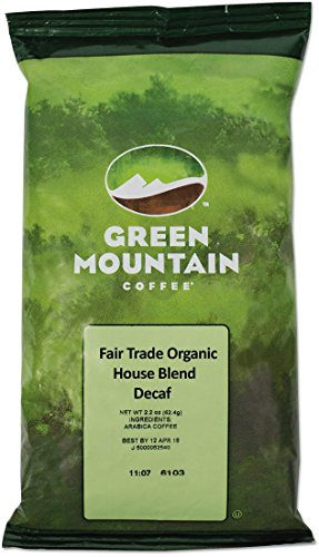 GMT5493 - Green Mountain Coffee Roasters Impartial Trade Organic House Blend Decaf Coffee Fraction Packs