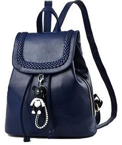 Sacs ROFBK181804 Femme Bleu Odomolor Tourisme Bleu Zippers Mode Sacs Daypack Foncé Dos Foncé à à bandoulière TtxqPgnx
