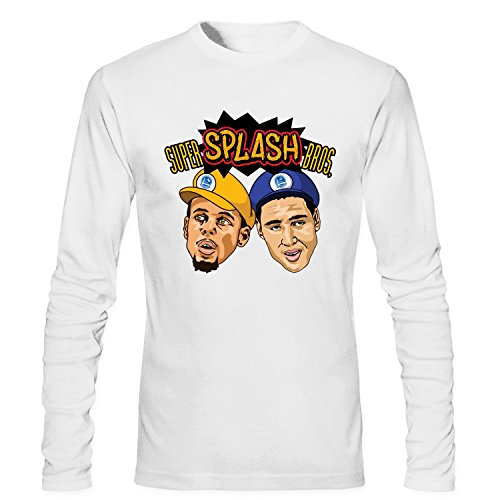 XIXU Golden State Warriors Roster Men Long Sleeve Custom T Shirt white XXL ()