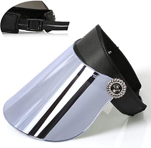 サンバイザー レインバイザー ハット UPF50+ 帽子 レディース メンズ ミラーシールド つば広 360°調整 自転車用 バッテリカー UVカット 紫外線対策 防水 防雨風 折りたたみ 農作業用 調整可能