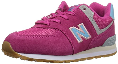 New Balance Boys 574v1 Lace-Up Sneaker, Exuberantpink I, 8.5 M US Infant (0-12 Months)
