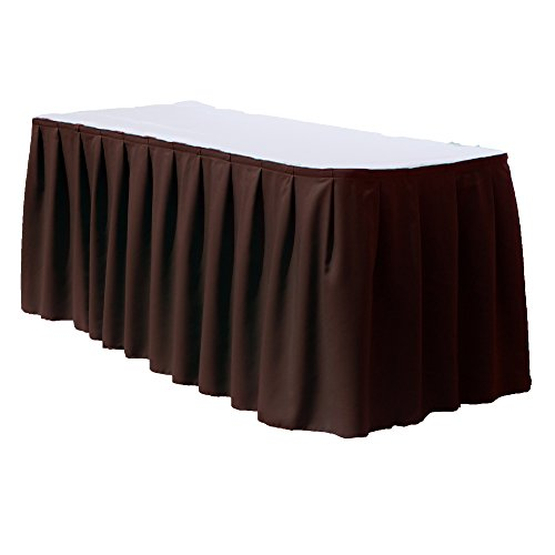 21 Feet Polyester Table Skirt By Florida Tablecloth Factory (Brown) - 21' Polyester Table Skirt