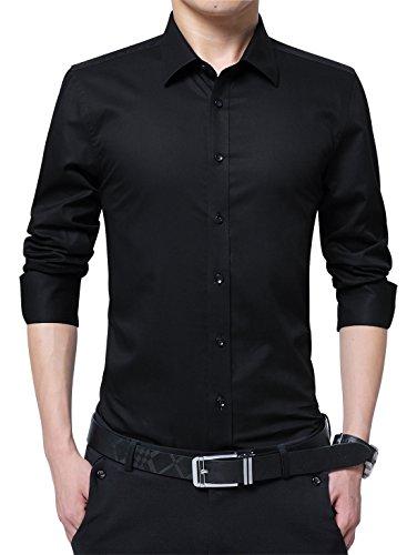 mens 100 cotton short sleeve dress shirt - 5