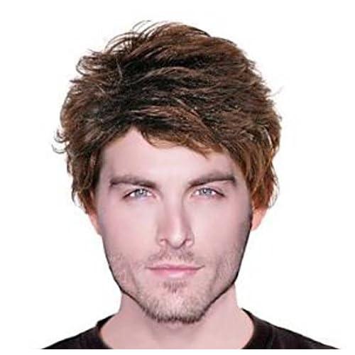 Haute température perruques fashion perruques, perruques hommes, perruque cheveux courts homme