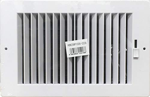 - HBW Two-Way Plastic Side Wall/Ceiling Register in White 10