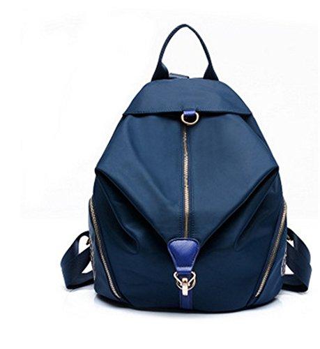 Meaeo De Hombros De Bolso Y Bolso De Mujer Navy Blue Edición Fresca Femenina Coreana Violeta Oxford Bolsa Mochila Señoras Tela Viaje Pequeña 4qEar4