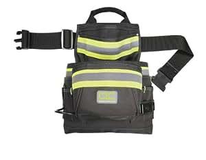 CLC 141833 Hi-Viz 10-Pocket Nail and Tool Bag with Poly Web Belt