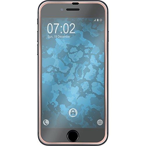 1 x Apple iPhone 8 Pellicola Protettiva Vetro Temperato chiaro full screen con telai metallici in oro rosa - PhoneNatic Pellicole Protettive