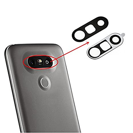 best loved 3073a 7e609 ACUTAS Camera Glass Lens Cover with Adhesive for LG G5 (Black)