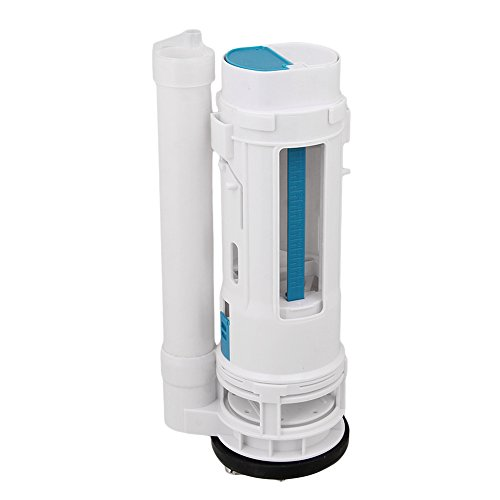 BQLZR White Toilet Cistern Dual Flush Push Button Valve 9.84inch Height Fit for Drain Diameter - Dual Button