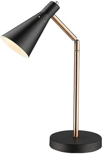 Lámpara de mesa de hierro forjado de metal de luz led Lámpara de ...