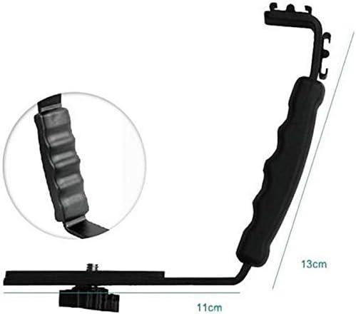 L-shaped Angle 2 Shoe Flash Bracket DV bracket tray Dual shoe L-shaped Flash Bracket for DSLR Camera and Camcorders PrinceShop