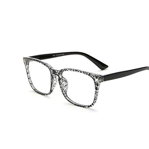 Tocoss (TM) Rétro Squre Transparent Lunettes pilote Cadre pour femme Œil de chat Lunettes pour homme Cadre clair Lunettes en forme de lunettes optique Eyewear, noir