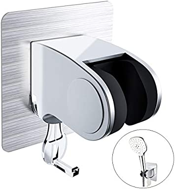 Adjustable Bathroom Hand Held Shower Head Holder Bracket Wall Mount With Hook LP