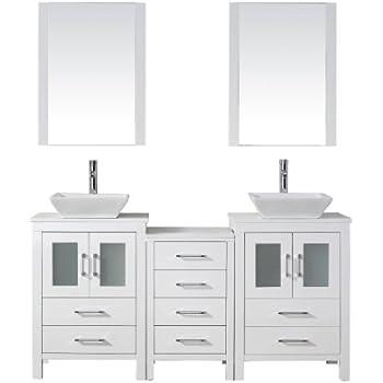 Virtu usa kd 70066 s wh modern 66 inch double sink - 66 inch bathroom vanity double sink ...