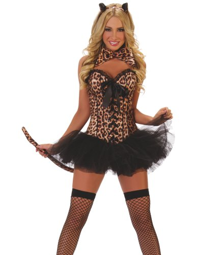 [Starline Costumes Leopard Kit, Brown, One Size] (Sexy Leopard Costumes)