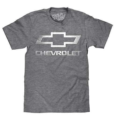 Tee Luv Chevrolet Shirt - Licensed Distressed Chevy Bowtie Logo T-Shirt (X-Large)