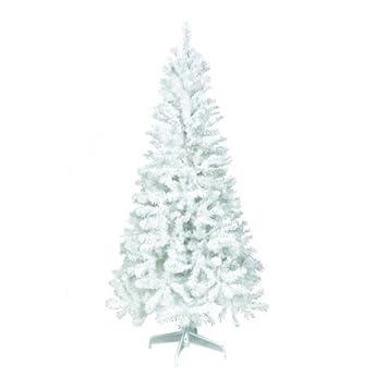 6FT White Premium Artificial Christmas/Xmas Tree: Amazon.co.uk ...