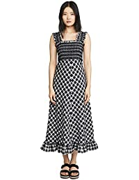 Women's Seersucker Check Dress