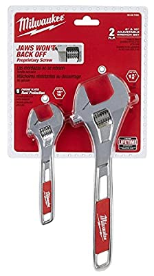 Adjustable Wrench Set, 2 Pieces, Chrome