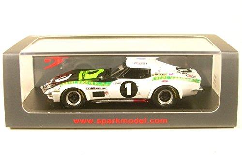 Spark S5073 Chevrolet Corvette C3 – Le Mans 1970 – Maßstab 1/43, Weiß/Schwarz/Grün