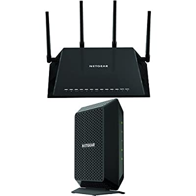 NETGEAR Home Networking Bundle - DOCSIS 3.0 Cable Modem with AC2600 WiFi Router