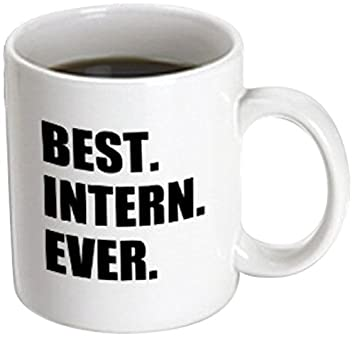 3dRose mug_185007_3 Best Intern Ever Fun Appreciation Gift for Internship  Job Funny Magic Transforming Mug,